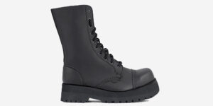 steel cap boot - vegan leather