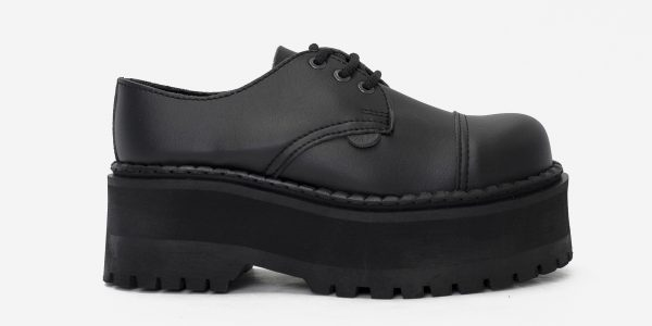 steel cap shoe - vegan leather