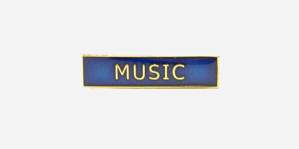 Underground England blue and gold music enamel metal pin badge