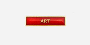 ART ENAMEL BADGE-RED/ METAL PIN BADGE