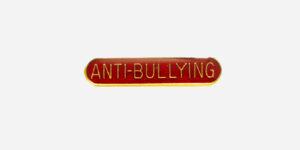 ANTI BULLYING ENAMEL BADGE-RED/ METAL PIN BADGE