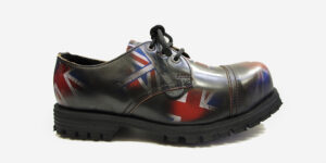 Underground England Tracker leather rub-off union jack leather steel toe cap leather shoe for men and women