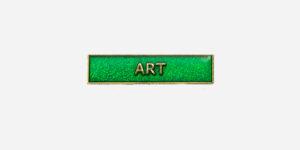 ART ENAMEL BADGE-GREEN/ METAL PIN BADGE