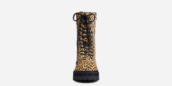 UNDERGROUND LEX CHUNKY BOOT – NATURAL LEOPARD – CUSTOM MADE COMBAT BOOTS FOR MEN AND WOMEN