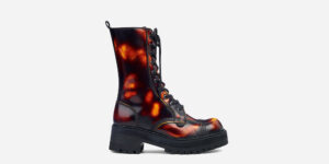 UNDERGROUND LEX CHUNKY BOOT – SUNBURST RUB-OFF LEATHER – CUSTOM MADE COMBAT BOOTS FOR MEN AND WOMEN
