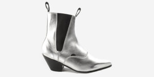 Underground England Fred Winklepicker silver metallic leather boot for men and women