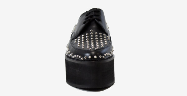 UNDERGROUND BARFLY – ORIGINAL CREEPER – BLACK LEATHER & ALL OVER STUDS – TRIPLE SOLE SHOES FOR MEN AND WOMEN