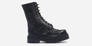 Underground Original Steel Cap Commando black tumbled leather combat boot for men and women