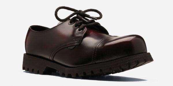 Burgundy steel cap shoe