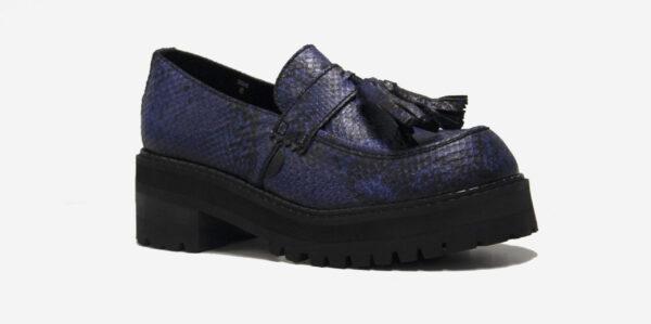 blue python loafer
