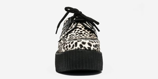 FRONT VIEW DOUBLE SOLE LEOPARD CREEPER