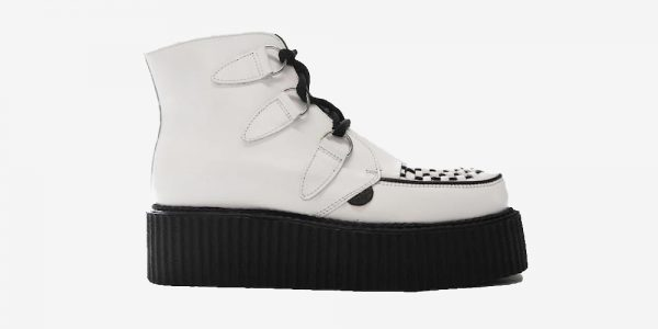 DOUBL SOLE WHITE LEATHER CREEPER BOOT