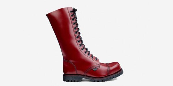 Underground Original Steel Cap Ranger Cherry leather combat boot for men and women