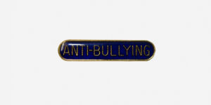 Underground England blue and gold anti-bullying enamel metal pin badge