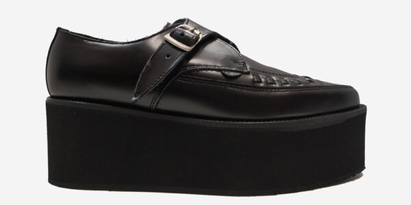 UNDERGROUND APOLLO CREEPER – BLACK LEATHER – TRIPLE SOLE – CUSTOM MADE SHOES FOR MEN AND WOMEN