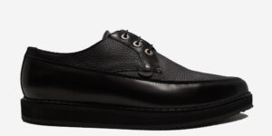 Underground Original barfly creeper black leather and black tumbled leather shoe for men and women