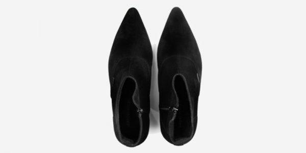 Underground England Marlon Winklepicker black suede boot with zip for men and women