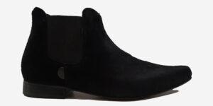 Underground England Winklepicker Chelsea black suede boot for men and women