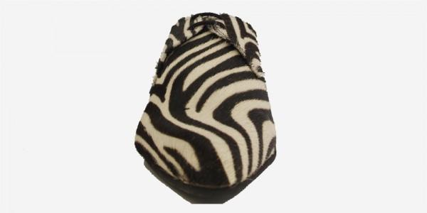 Underground England Paul Winklepicker black and white zebra pony hair shoe for men and women