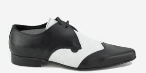 Underground England Paul Winklepicker black and white leather shoe for men and women