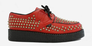 Underground Original Wulfrun Creeper grain leather red all over studs shoe for men and women