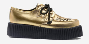 Underground Original Wulfrun Creeper gold leather and shoe for men and women