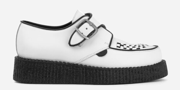KING TUT CREEPER BUCKLE SHOE – WHITE LEATHER – SHOES FOR MEN AND WOMEN