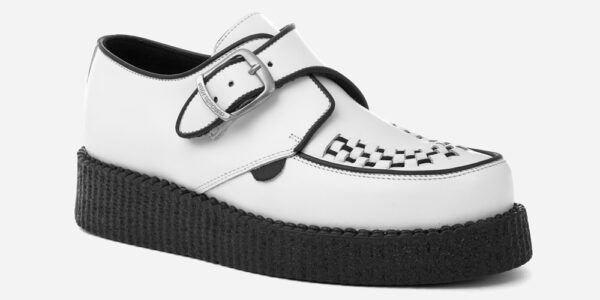 UNDERGROUND KING TUT CREEPER BUCKLE SHOE – WHITE LEATHER – SHOES FOR MEN AND WOMEN