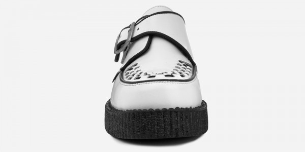 UNDERGROUND KING TUT CREEPER – WHITE LEATHER – SHOES FOR MEN AND WOMEN