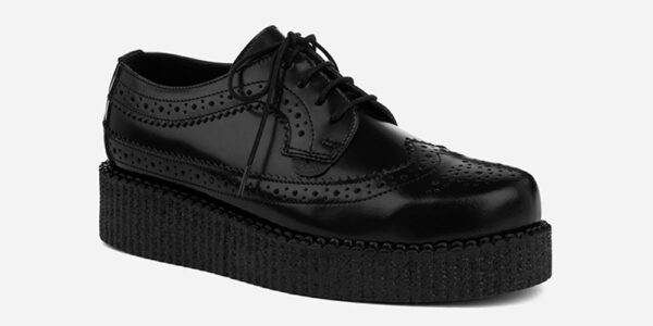 UNDERGROUND MACBETH BROGUE – BLACK LEATHER – SHOES FOR MEN AND WOMEN