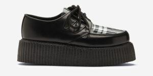 Underground Original Wulfrun Creeper black leather and menzies Tartan shoe for men and women