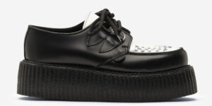Underground Original Wulfrun Creeper black and white leather and shoe for men and women