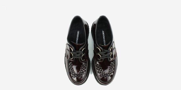 Underground Original Wulfrun Creeper burgundy patent leather shoe for men and women
