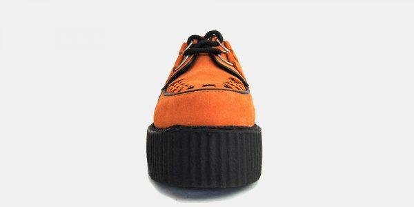 Underground Original Wulfrun Creeper orange suede shoe for men and women