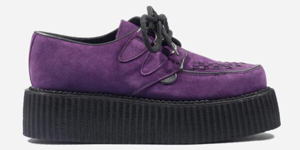 Underground Original Wulfrun Creeper purple suede shoe for men and women