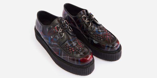 Underground Original Wulfrun Creeper tartan rub-off leather shoe for men and women