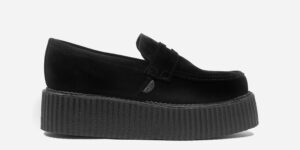 Original Underground creeper loafer black suede leather shoe for Men and Women