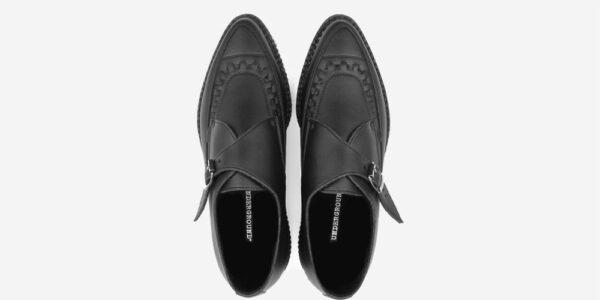 Underground Original Apollo Creeper black vegan friendly leather buckle shoe for men and