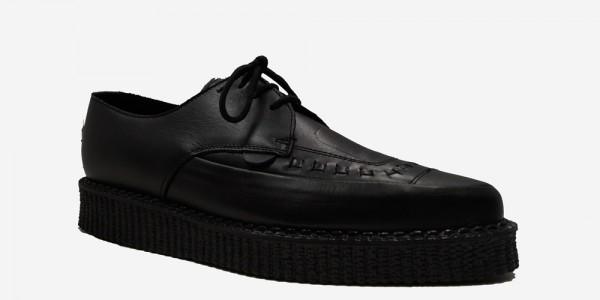 Underground Original Barfly Creeper black grain leather shoe for men and women