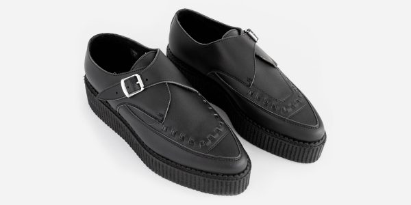 Underground Original Apollo Creeper black vegan friendly leather buckle shoe for men and women