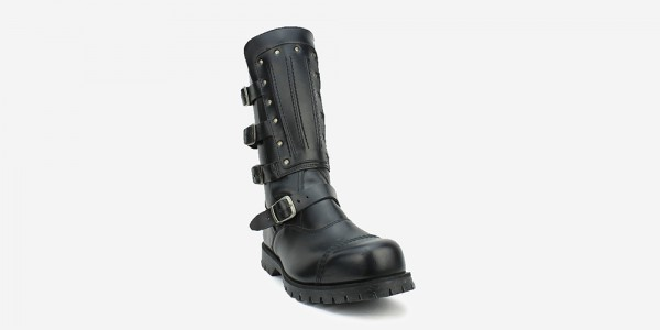 Underground Original Warrior Creeper steel toe cap boot black leather with leather plate for men and women