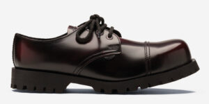 Burgundy steel cap shoe