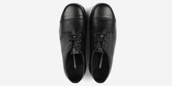 Underground England Tracker black tumbled leather steel toe cap leather shoe for men and women