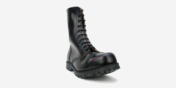 Underground Original Steel Cap Commando purple rub-off leather combat boot for men and women