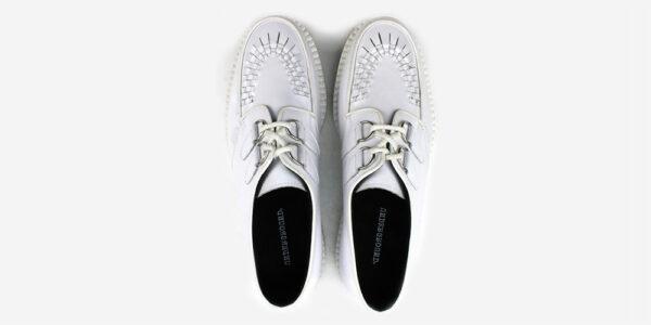 Underground Original Wulfrun Creeper white leather shoe for men and women