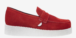 Underground Original Wulfrun Creeper loafer red suede with white sole shoe for men and women