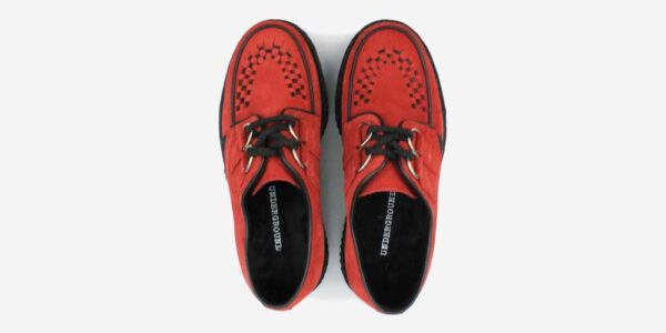 Underground Original Wulfrun Creeper red suede shoe for men and women