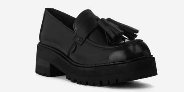 UNDERGROUND LEX – ORIGINAL CHUNKY TASSLE LOAFER – BLACK LEATHER SHOES FOR MEN AND WOMEN
