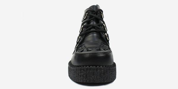 UNDERGROUND ORIGINAL WULFRUN CREEPER BOOT – BLACK LEATHER & INTERLACE – BOOTS FOR MEN AND WOMEN