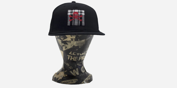 UNDERGROUND SKULL AND CROSS BONE PATCH BLACK CAP ACCESSORIES FOR MEN AND WOMEN